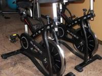 We have 2 Masters P.T.S. professional spin bikes,