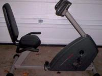 We bought this recumbent exercise bike in December,