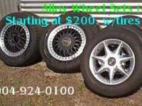 Set of (4) Seven spoke alloy wheels with five bolt