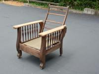 ANTIQUE OAK PROJECT MORRIS CHAIR Unfinished project ...
