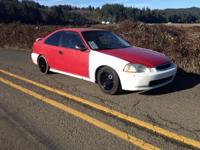 96 clean title civic dx 5spd runs great drives poorly