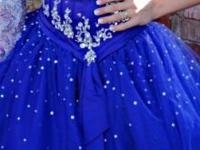 Size 4 Prom Dress. Dark Purple with lots of jewels and