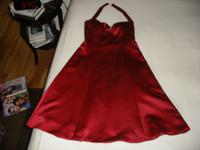 For sale: A Prom Dress, deep red and only worn once,
