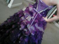 beautiful senior prom outfit tones of purple with
