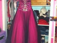 Size 6, Flirt by Maggie Sottero prom dress. I bought it