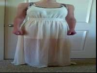 Flattering ivory prom dress, Yellow Chair. This is a