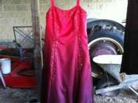 BEAUTIFUL PROM DRESS / GOWN RED SIZE 16 ALTERED TO SIZE
