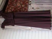 Maroon with bling on the top..long dress for someone