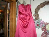 PROM DRESS IN SIZE 8 IN LIGHT PINK AND WINE DRESS BOTH