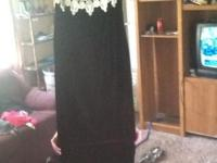 Pretty black gowns. Been used one time. Only desired