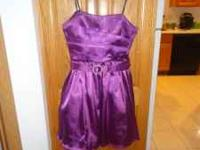 For sale a beautiful purple formal/prom dress... wore