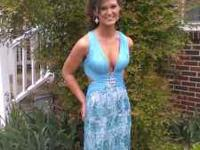Blue/Turquoise Dress , FOR SALE ....Size 4......wore 2