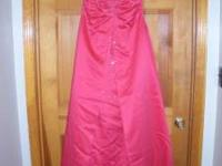 Hot pink prom/ pageant dress Never worn. Size 13