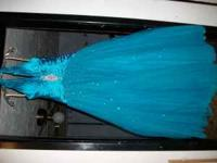 blue prom dress for sale $200.00 OBO. used only one