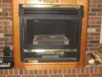 Propane fireplace comes with mantle and instructions