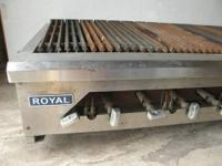 I have a six feet, Royal brand comercial propane grill.