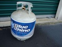 This is a newer propane tank that has just alittle bit