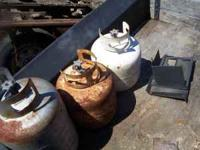 old propane tanks have about 8 $10 each  no email