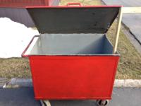 Vintage Proto 9 Drawer Rolling Tool Cabinet. Heavy duty