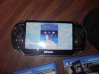 ps vita with 4gb memory card, madden 13, call of duty