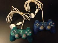 For sale are my clear blue and clear green PlayStation