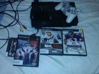 Play station 2 for sale with some games 2 mem csrds