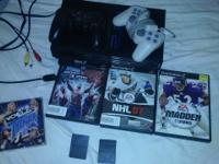 Playstation 2 for sale has 2 controlers 2 mem cards And