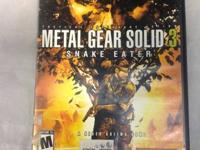 METAL GEAR SOLID 3: SNAKE EATER PS2 video game priced