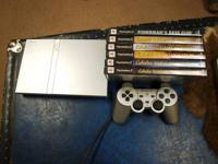 I have a Slim PS2 1 controller, 6 games and a new 16 MB