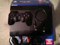 Ps3 1 controller and 3 games. And a Hdmi cord