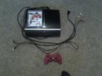 PS3 comes with 1 controller 1 game NHL10 works good