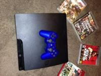 I have a ps3 160 gig comes with a control and 4 games,
