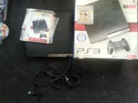 Ps3 250gb works perfectly no issues at all , comes with