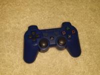 azure blue ps3 250gb comes with controller and cords