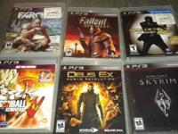 Six of the most popular games on ps3. All for the price