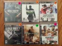 Six Play Station 3 games:  Call of Duty - Black Ops