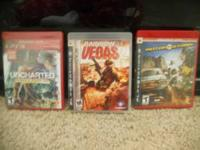 Three ps3 games for sale uncharted new still has