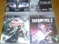 medal of honor infamous 2 battlefield 3 dead island