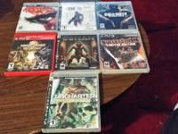 I have 7 ps3 games in good condition all work perfect