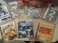 Im selling 7 ps3 video games for the rate of $114 for
