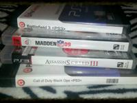 PS3 Games; Battleground 3, Madden 09', Assassin's Creed