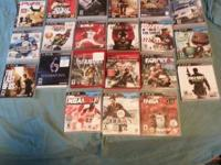 21 PS 3 games, 3 controllers(2 are cordless) NBA 2K 14,