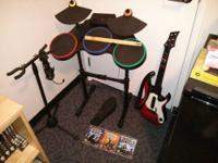 Up for sale are my year old PS3 Band Hero instruments