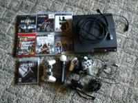 PS3 slim 160gb, one reg controller, one ps2 cont with