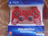 PS3 NEW Wireless controller  NEW RED UNOPENED PS3
