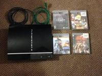 I am offering a play station 3 with 4 games. The games