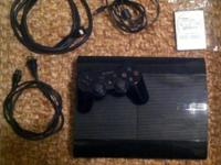 PS3 Console with 16 games- System included: 1 used 12gb