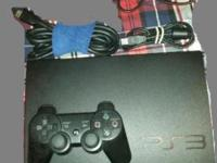 PS3 bundle. It includes: 2 controllers, AC cable, HDMI