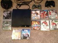 120 GB ps3 slim In excellent condition. 10 games, hdmi