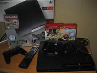 I have a PS3 slim with 250 GB hard drive, comes with